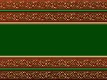 Tarjeta de Navidad verde Imagen de archivo libre de regalías