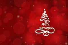 Tarjeta de Navidad y Año Nuevo Imágenes de archivo libres de regalías