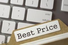 Tarjeta de índice con el mejor precio 3d Foto de archivo