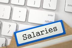 Tarjeta de índice con sueldos 3d Imagen de archivo libre de regalías