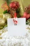 Tarjeta de nota de la Navidad Foto de archivo libre de regalías