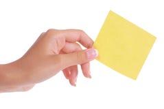 Tarjeta de nota en blanco Imagen de archivo