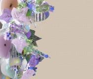 Tarjeta de nota en colores pastel floral Fotos de archivo