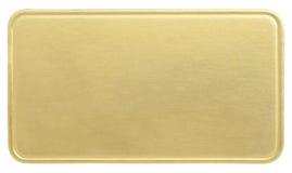 tarjeta de oro Imágenes de archivo libres de regalías
