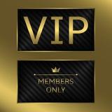 Tarjeta de oro del VIP Foto de archivo