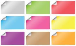Tarjeta de papel de la etiqueta engomada Imagenes de archivo
