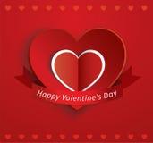 Tarjeta de papel de la tarjeta del día de San Valentín del corazón libre illustration