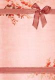 Tarjeta de papel de la vendimia Imágenes de archivo libres de regalías