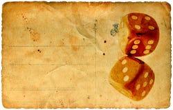 Tarjeta de papel de la vendimia de los dados libre illustration