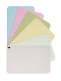 Tarjeta de papel del color Fotos de archivo libres de regalías