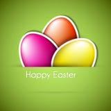 Tarjeta de papel del huevo de Pascua del vector ilustración del vector