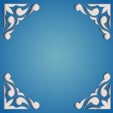 Tarjeta de papel del recorte. Diseño del marco de la plantilla. Stock de ilustración