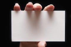Tarjeta de papel a disposición Fotografía de archivo