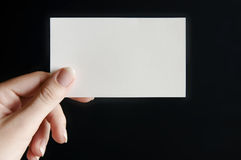 Tarjeta de papel a disposición Foto de archivo libre de regalías