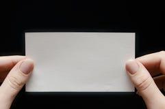 Tarjeta de papel a disposición Imagen de archivo