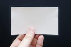 Tarjeta de papel a disposición Fotografía de archivo libre de regalías