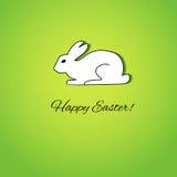 Tarjeta de pascua con el conejo blanco ilustración del vector