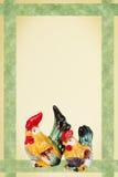 Tarjeta de pascua con el gallo y la gallina Fotos de archivo libres de regalías