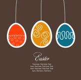 Tarjeta de pascua con los huevos Imagen de archivo libre de regalías