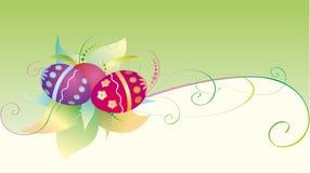 Tarjeta de pascua con los huevos