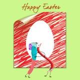 Tarjeta de pascua feliz libre illustration