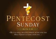 Tarjeta de Pentecostés domingo ilustración del vector