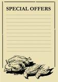 Tarjeta de Prcie de las aves de corral Imagen de archivo