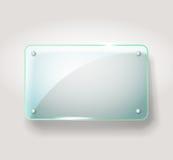 Tarjeta de publicidad de cristal Fotos de archivo