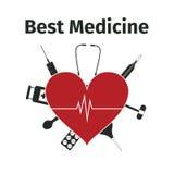 Tarjeta de publicidad para la medicina Foto de archivo