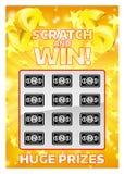 Tarjeta de rascar del instante de la lotería Imagen de archivo