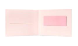 Tarjeta de regalo en blanco de la muchacha Imagen de archivo