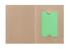 Tarjeta de regalo en la cubierta de papel Fotos de archivo libres de regalías