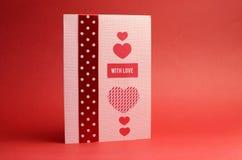 Tarjeta de regalo hecha a mano del tema del amor Fotografía de archivo libre de regalías