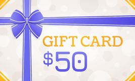 Tarjeta de regalo, vale de regalo - 50 d?lares ilustración del vector