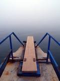 Tarjeta de salto por el mar Imagen de archivo libre de regalías