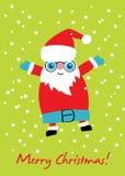 Tarjeta de santa de la Navidad Imagen de archivo libre de regalías