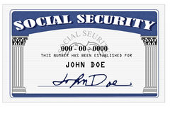 Tarjeta de Seguridad Social Imágenes de archivo libres de regalías