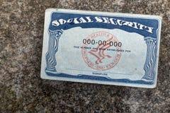 Tarjeta de Seguridad Social torcida foto de archivo libre de regalías