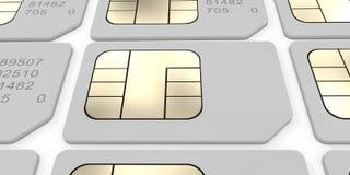 Tarjeta de Sim Fotos de archivo libres de regalías