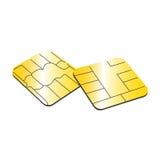 Tarjeta de SIM o ejemplo del microchip EPS10 del concepto de la tarjeta de crédito encendido Foto de archivo libre de regalías