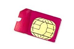 Tarjeta de Sim para el teléfono móvil Fotografía de archivo libre de regalías