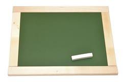 Tarjeta de tiza verde en blanco Foto de archivo