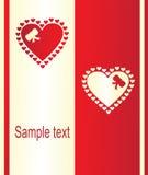 Tarjeta de Valentineâs Fotos de archivo libres de regalías
