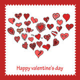 Tarjeta de Valentine Greeting del vector stock de ilustración