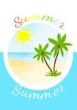 Tarjeta de verano brillante del vector Fotos de archivo