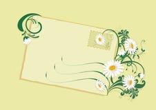 Tarjeta de verano con las margaritas stock de ilustración