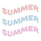 Tarjeta de verano de pequeñas flores coloreadas multi Imagenes de archivo
