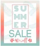 Tarjeta de verano/fondo Fotografía de archivo libre de regalías
