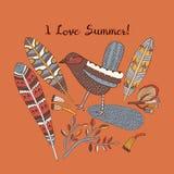 Tarjeta de verano Ilustración del vector Imagenes de archivo