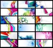 Tarjeta de visita abstracta Fotografía de archivo